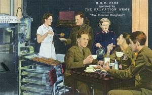 Salvation Army Famous Doughnut USO Club Scene by Lantern Press