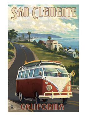 San Clemente, California - VW Van Cruise by Lantern Press