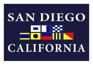 San Diego, California - Nautical Flags by Lantern Press