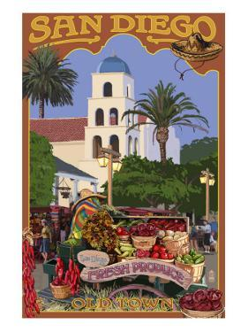 San Diego, California - Old Town by Lantern Press