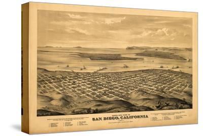 San Diego, California - Panoramic Map by Lantern Press