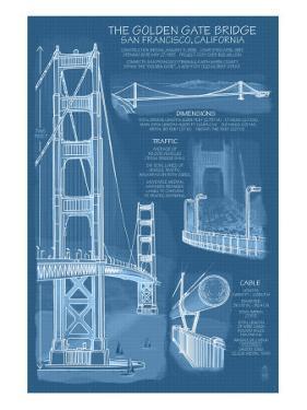 Blueprints posters for sale at allposters san francisco ca golden gate bridge technical blueprint by lantern press malvernweather Images