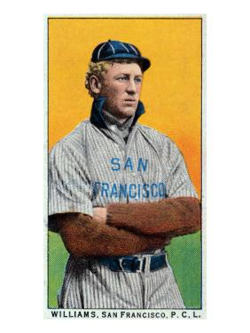 San Francisco, CA, San Francisco Pacific Coast League, Williams, Baseball Card by Lantern Press