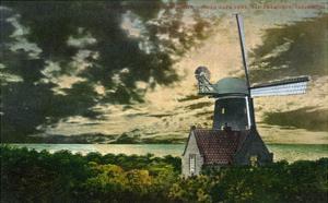San Francisco, California - Golden Gate Park Windmill in the Moonlight by Lantern Press