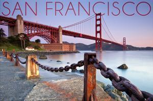 San Francisco, California - Golden Gate View by Lantern Press