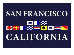 San Francisco, California - Nautical Flags by Lantern Press