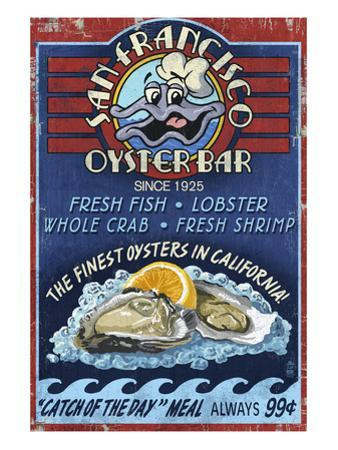 San Francisco, California - Oyster Bar by Lantern Press