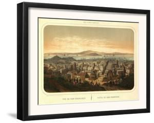 San Francisco, California - Panoramic Map No. 2 by Lantern Press