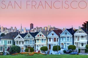 San Francisco, California - Pink Ladies by Lantern Press