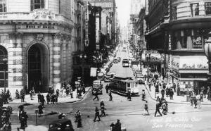 San Francisco, California - Powell Street Cable Cars by Lantern Press