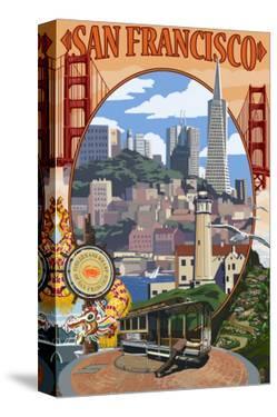 San Francisco, California Scenes by Lantern Press