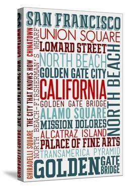 San Francisco, California - Typography by Lantern Press