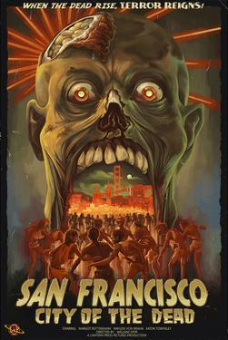 San Francisco City of the Dead Zombie Attack by Lantern Press