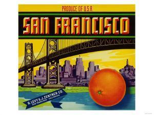 San Francisco Orange Label - San Francisco, CA by Lantern Press