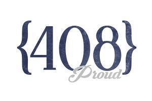 San Jose, California - 408 Area Code (Blue) by Lantern Press