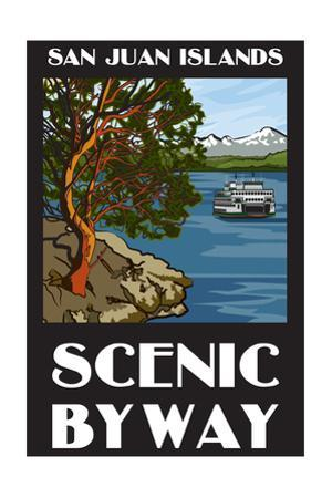 San Juan Islands Scenic Byway, Washington - Official Logo by Lantern Press