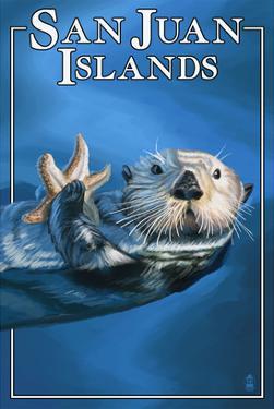 San Juan Islands, Washington - Sea Otter by Lantern Press