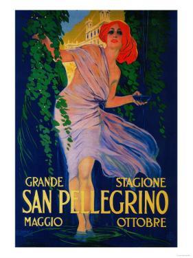 San Pellegrino Vintage Poster - Europe by Lantern Press