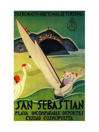 San Sebastian Vintage Poster - Europe by Lantern Press