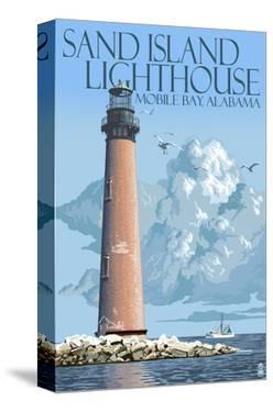 Sand Island Lighthouse - Mobile Bay, Alabama by Lantern Press