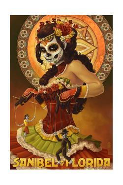 Sanibel, Florida - Day of the Dead Marionettes by Lantern Press