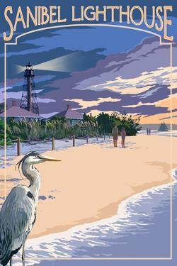 Sanibel, Florida - Lighthouse by Lantern Press
