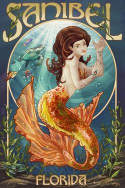 Sanibel, Florida - Mermaid by Lantern Press