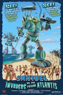 Sanibel, Florida - Sanibel vs. Atlantean Invaders by Lantern Press