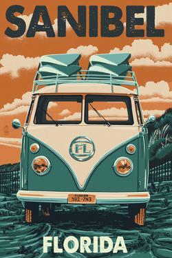 Sanibel, Florida - VW Van by Lantern Press