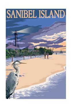 Sanibel Island, Florida - Lighthouse by Lantern Press