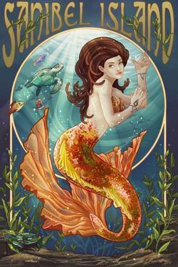 Sanibel Island, Florida - Mermaid by Lantern Press
