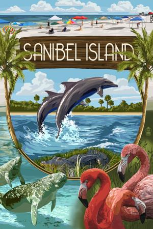 Sanibel Island, Florida - Montage by Lantern Press
