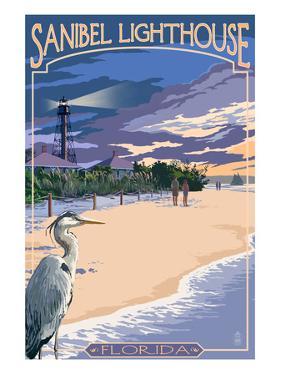 Sanibel Lighthouse - Sanibel, Florida by Lantern Press