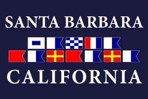 Santa Barbara, California - Nautical Flags by Lantern Press