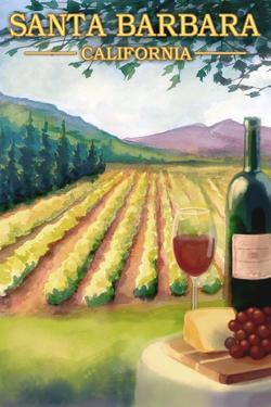 Santa Barbara, California - Wine Country by Lantern Press