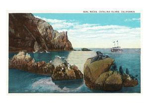 Santa Catalina Island, California - View of the Seal Rocks by Lantern Press