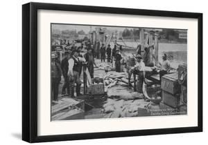 Santa Cruz, CA - Fisherman's Wharf Scene Photograph by Lantern Press
