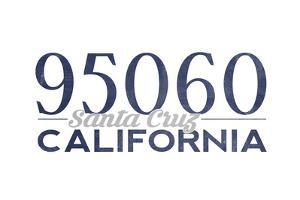 Santa Cruz, California - 95060 Zip Code (Blue) by Lantern Press