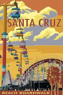 Santa Cruz, California - Beach Boardwalk by Lantern Press