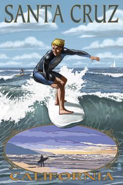 Santa Cruz, California - Day Surfer by Lantern Press
