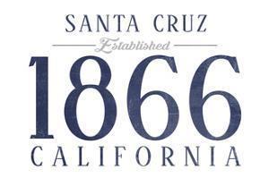 Santa Cruz, California - Established Date (Blue) by Lantern Press