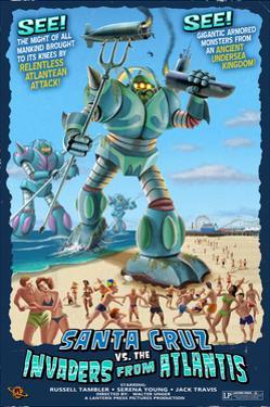 Santa Cruz, California - Invaders from the Deep by Lantern Press