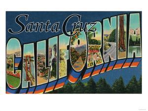 Santa Cruz, California - Large Letter Scenes by Lantern Press