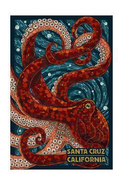 Santa Cruz, California - Octopus Mosaic by Lantern Press