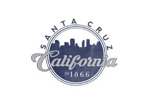 Santa Cruz, California - Skyline Seal (Blue) by Lantern Press