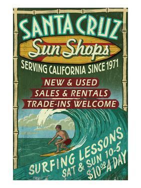 Santa Cruz, California - Sun Shops Surf Shop by Lantern Press