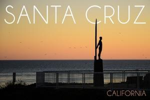 Santa Cruz, California - the Surfer by Lantern Press