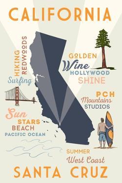 Santa Cruz, California - Typography and Icons by Lantern Press
