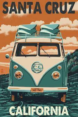 Santa Cruz, California - VW Van by Lantern Press