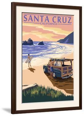 Santa Cruz, California - Woody on Beach by Lantern Press